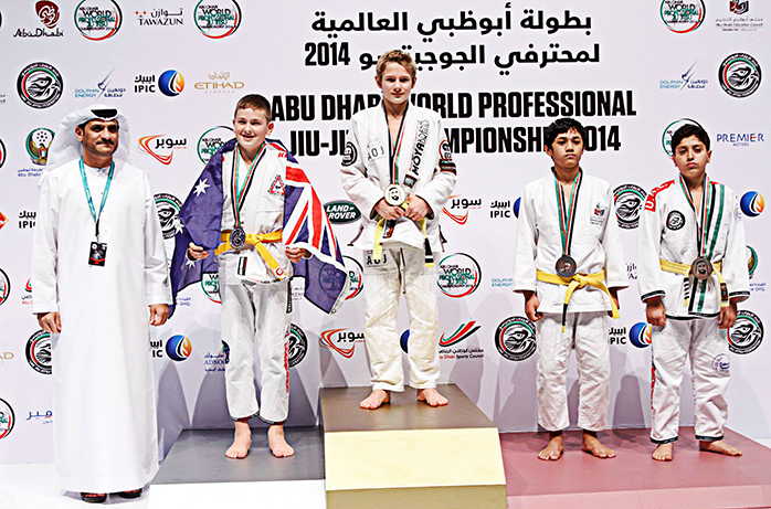 Abu-Dhabi david at podium